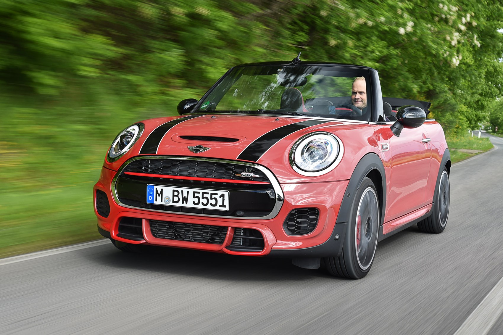 mini john cooper works convertible first drive car june. Black Bedroom Furniture Sets. Home Design Ideas
