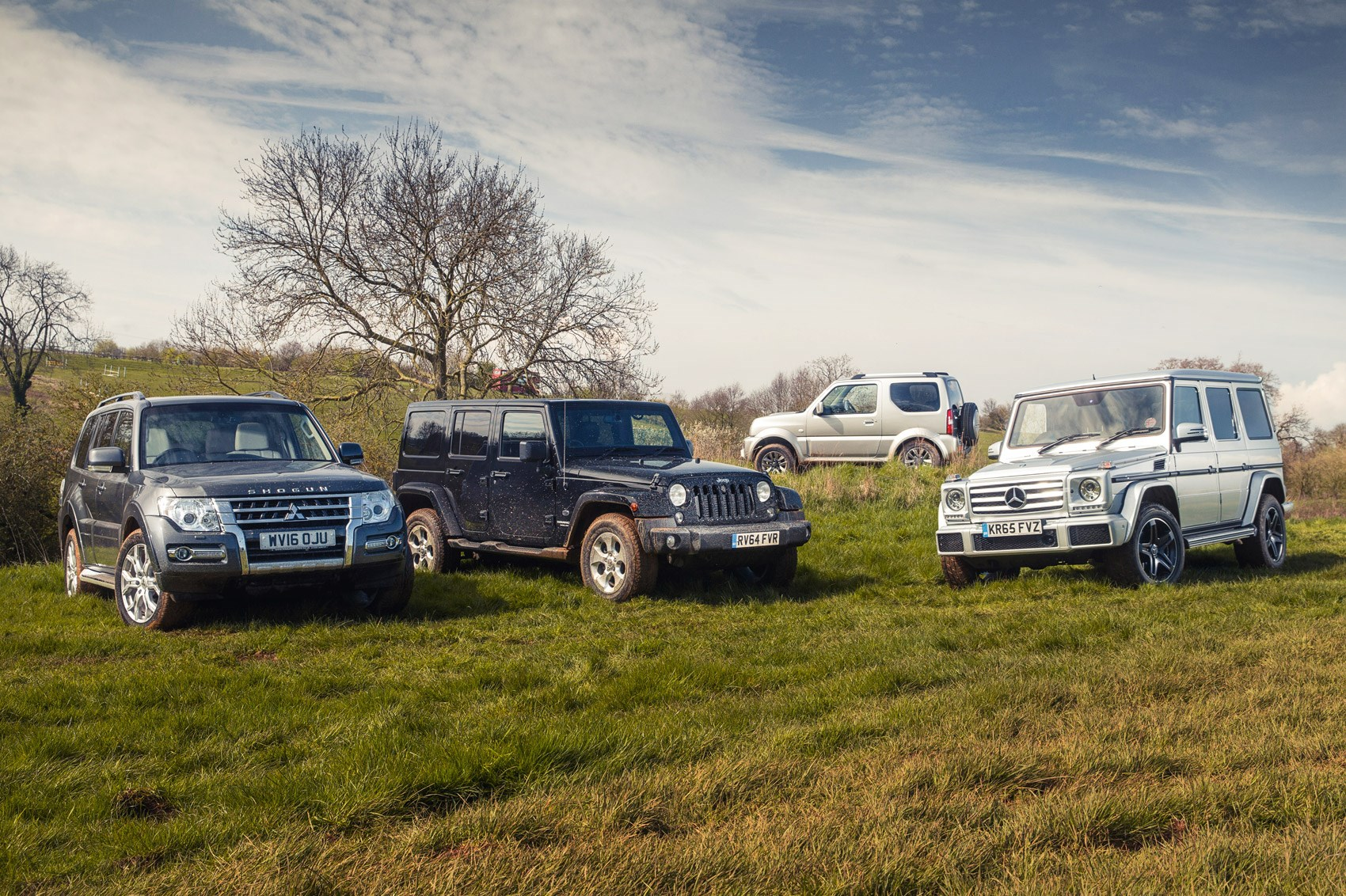 Group test: Mitsubishi Shogun vs Jeep Wrangler vs Suzuki ...