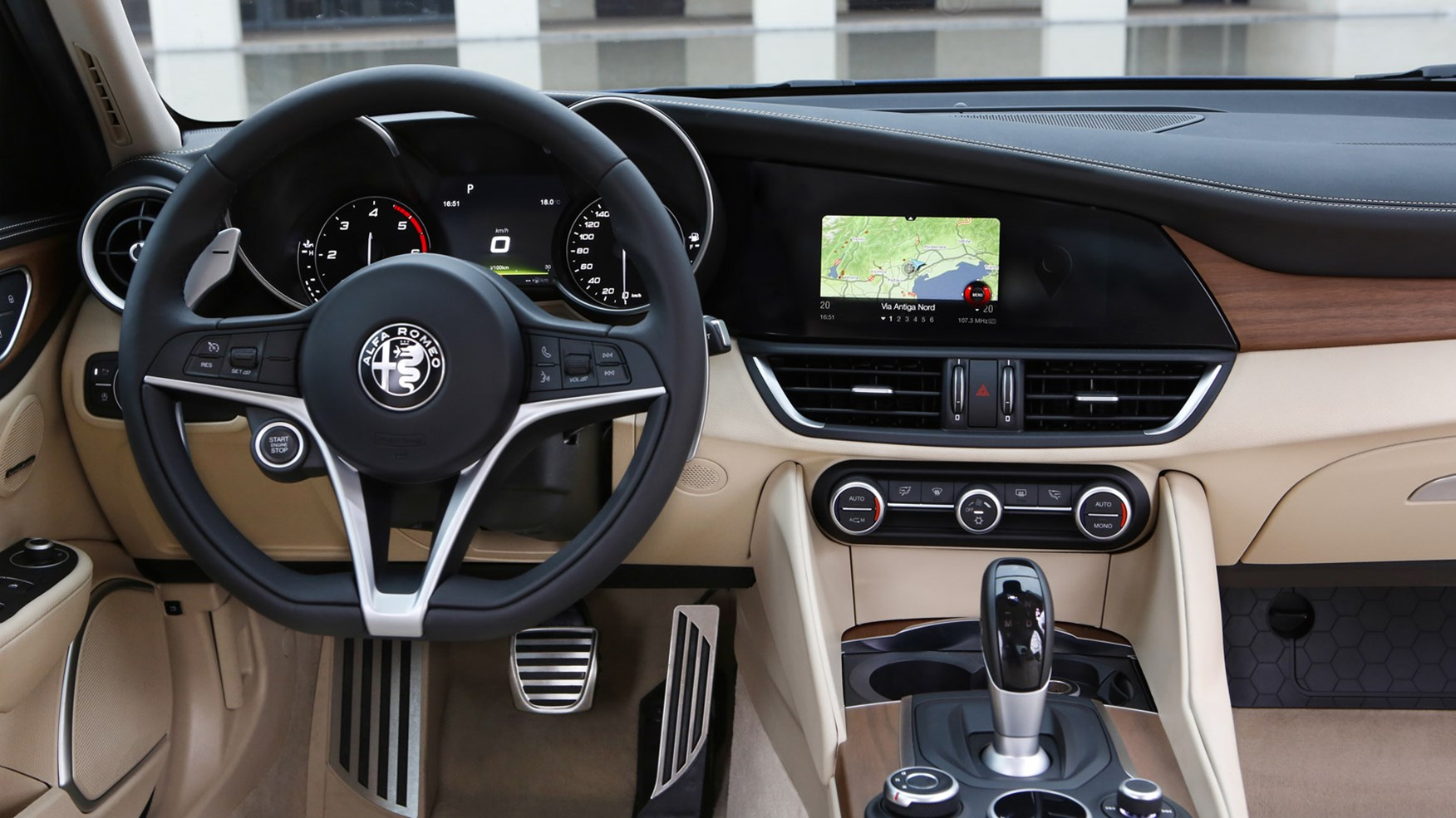 Alfa Romeo Stelvio interior and infotainment  carwow