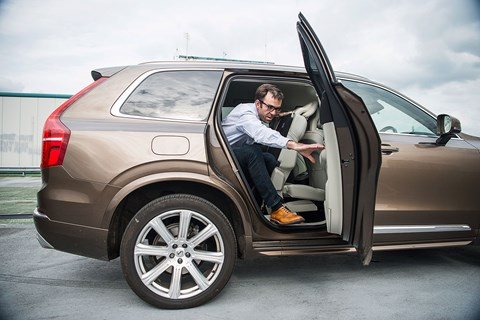 Access to the third row of seats in the Volvo XC90