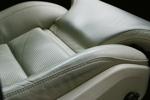 Volvo XC90 scuffed leather seats
