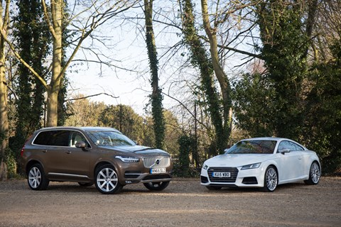CAR magazine's Volvo XC90 and the Audi TTS