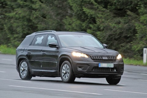 Skoda Kodiaq spy photo by CAR magazine