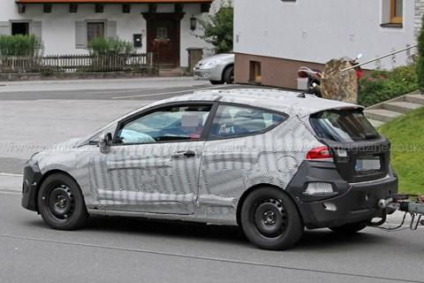 Ford Fiesta spy shots