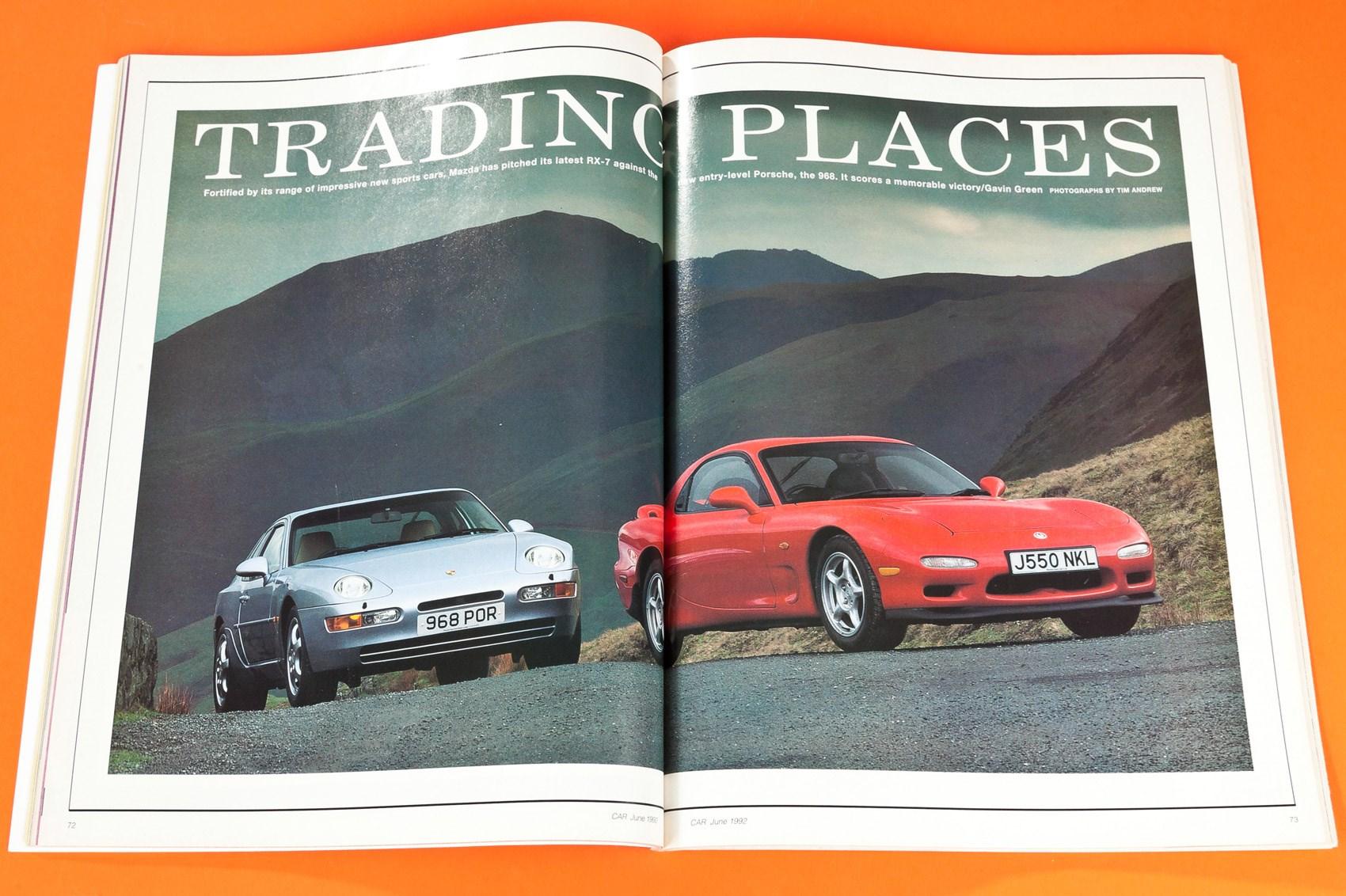 Trading Places Mazda Rx 7 Vs Porsche 968 Car Archive