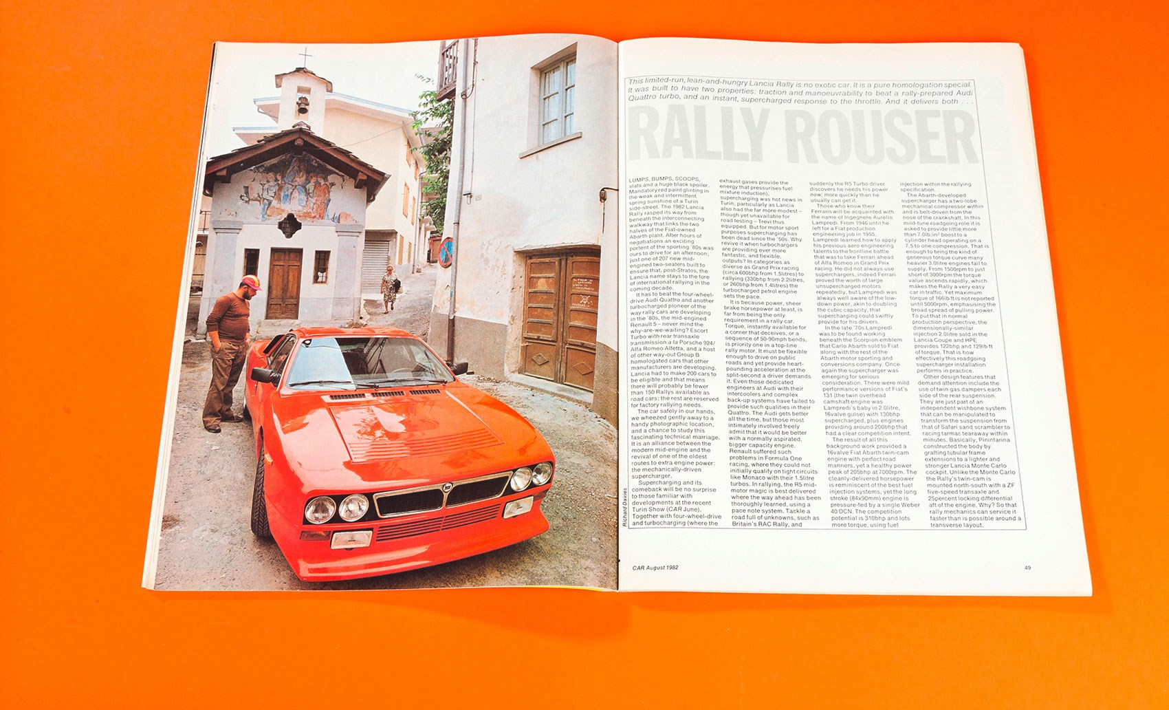 Rally Rouser: Lancia Rally 037 tested (CAR+, 1982) by CAR Magazine