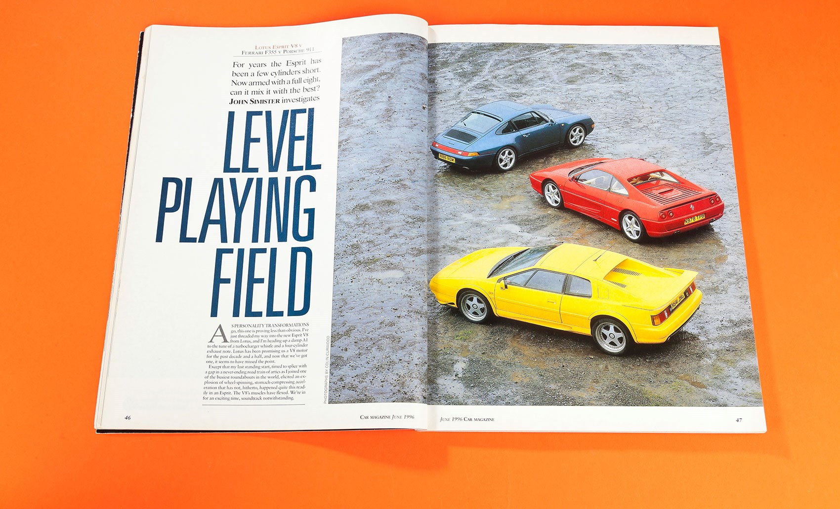 Level playing field: Lotus Esprit V8 vs Ferrari F355 vs Porsche 911 (CAR  archive, 1996) | CAR Magazine