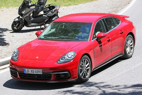 New Porsche Panamera scooped