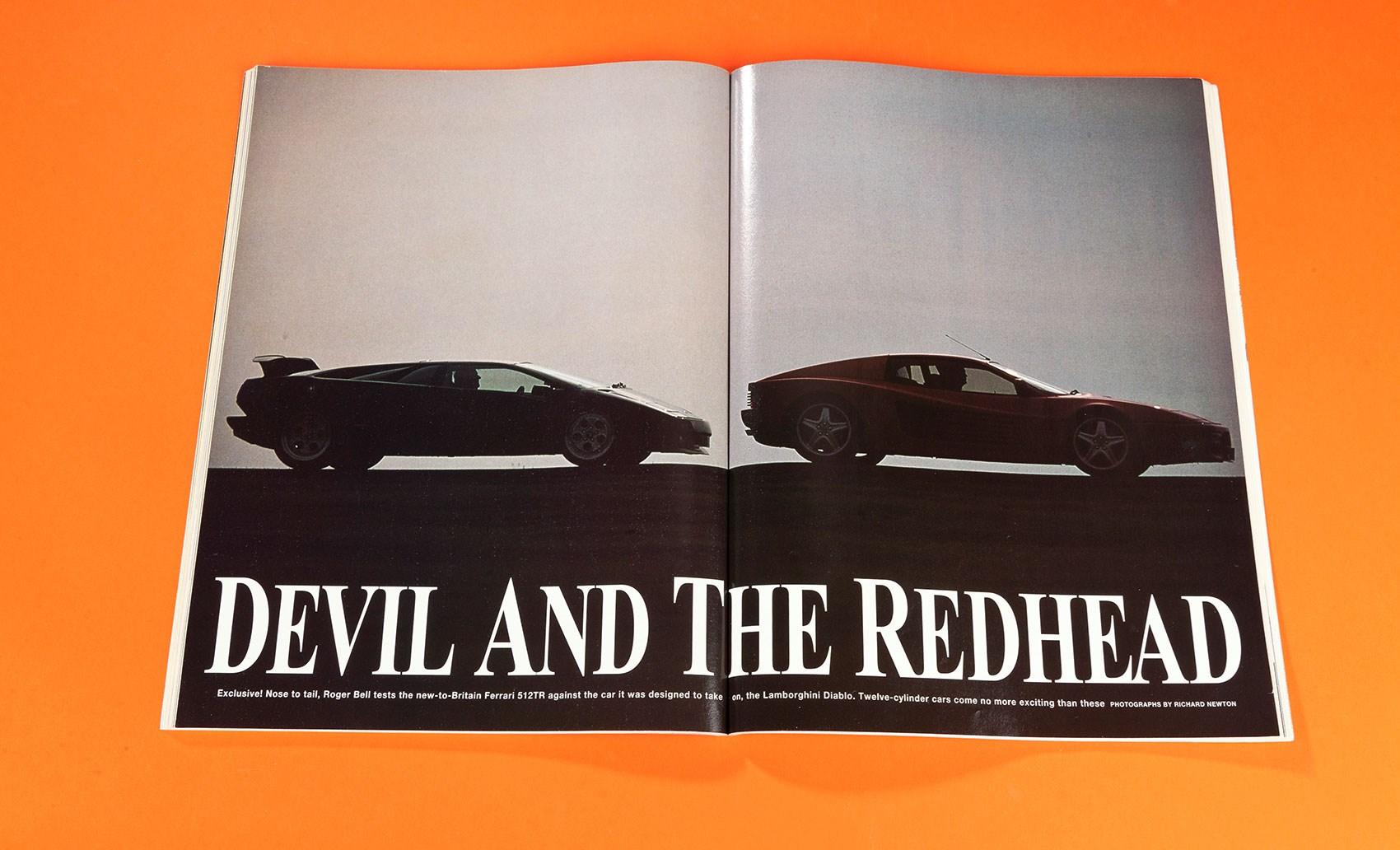 The Devil And The Redhead: Lamborghini Diablo Vs Ferrari 512TR (CAR  Archive, 1992 ...