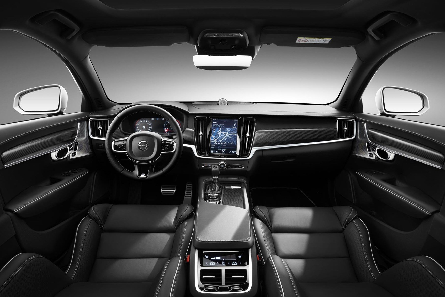 swedish for sporty volvo s90 and v90 r design 2016 execs unveiled by car magazine. Black Bedroom Furniture Sets. Home Design Ideas