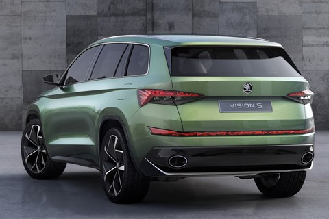 Skoda Vision S concept car: points to new 2017 Kodiaq