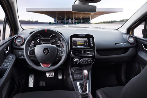 Inside the Clio RS cabin