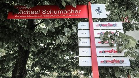 Michael Schumacher's piazza at Fiorano