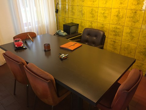 Enzo Ferrari's old desk at Fiorano
