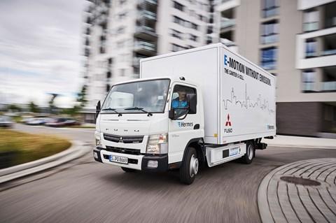 The Daimler/Mitsubishi Fuso Canter E-Cell
