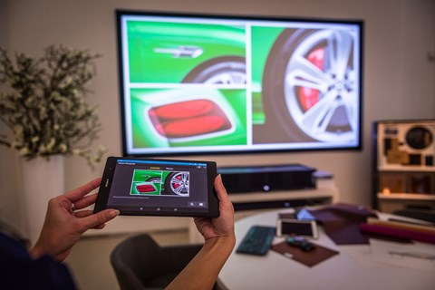 Sony Xperia tablets are used by Bentley customers