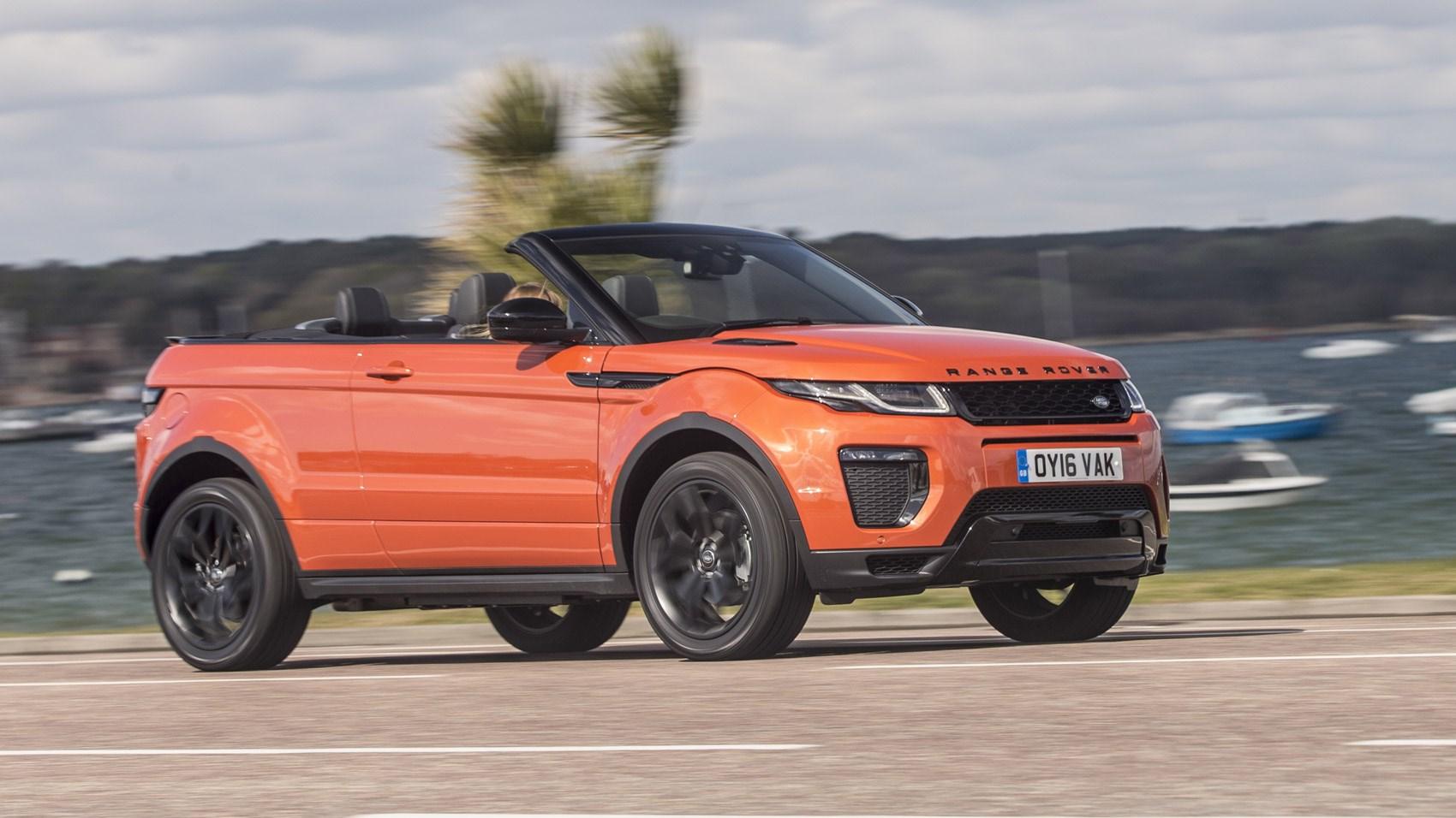 range rover evoque convertible 2 0 td4 hse dynamic 2016 uk review car magazine. Black Bedroom Furniture Sets. Home Design Ideas