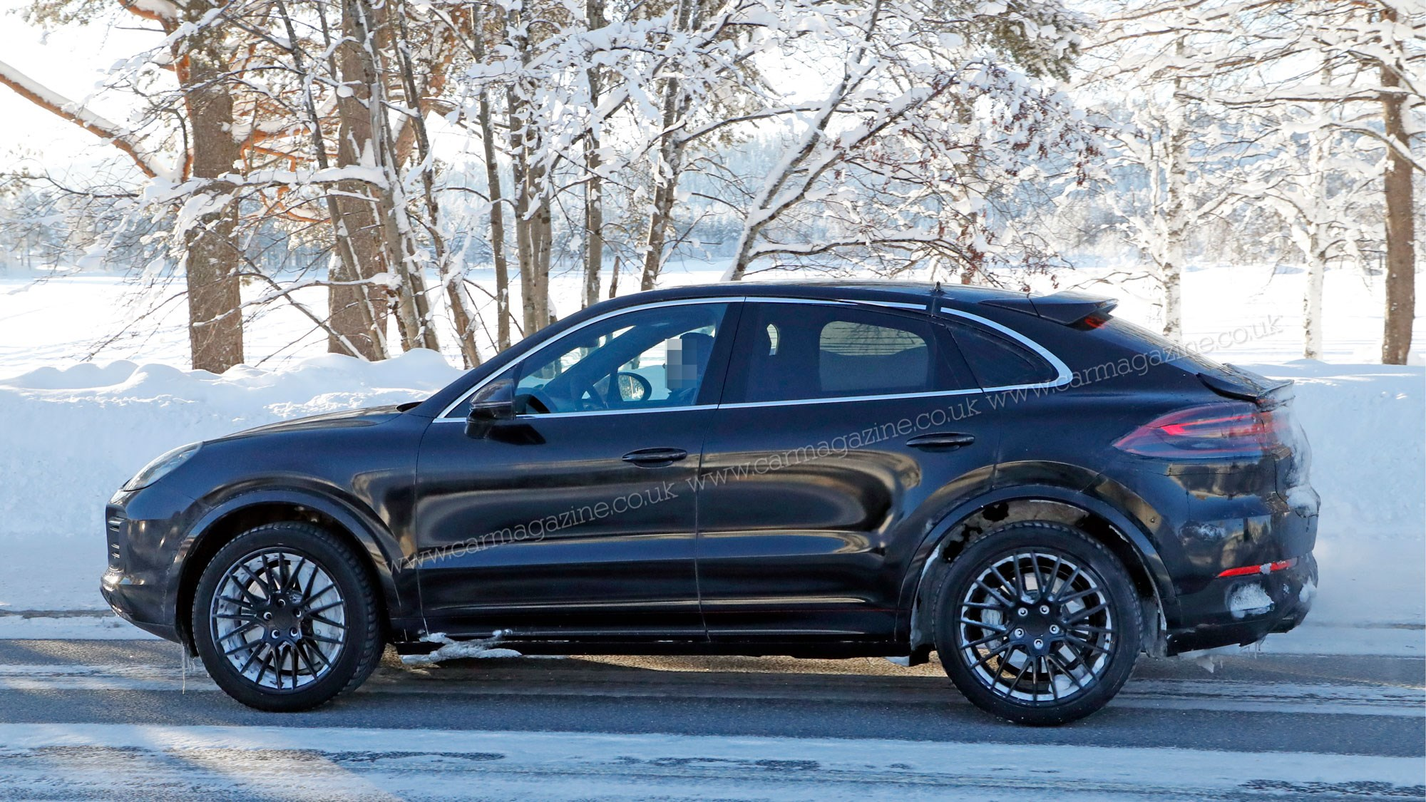 Porsche Cayenne Coupe Sporty Suv Spotted Winter Testing Car Magazine