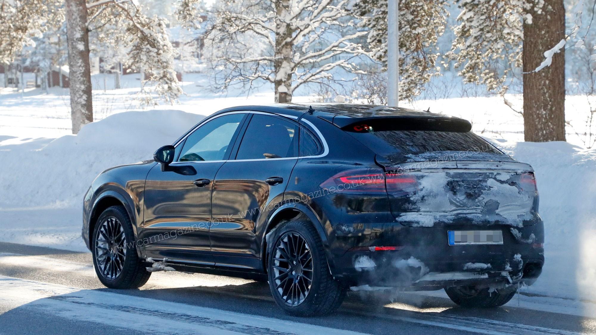 Porsche Cayenne Coupe Sporty Suv Spotted Winter Testing Car Magazine