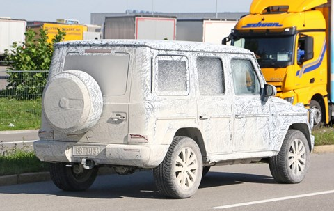 New 2018 Mercedes G-class: covered in mud