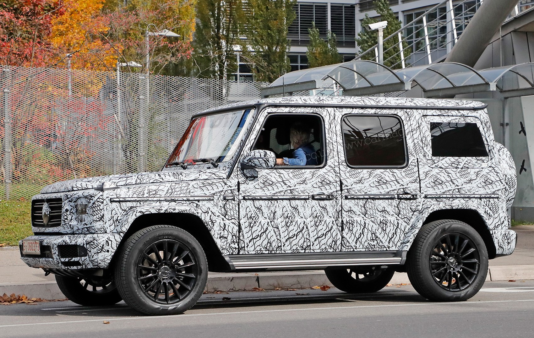 new 2018 mercedes g class spied by car magazine. Black Bedroom Furniture Sets. Home Design Ideas
