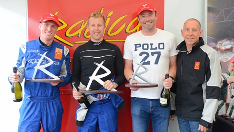Radical SR1 Cup Race 1 podium at Oulton Park