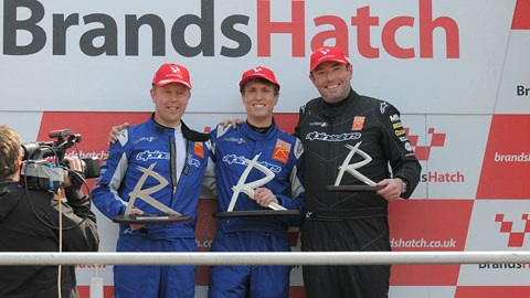 Left to right: Oliver Barker, CAR's James Taylor and Rob Ellice