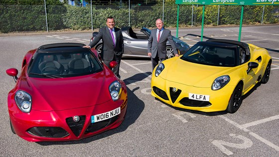 An Italian Fling For 248 Alfa Romeo 4c Spider Added To Europcar