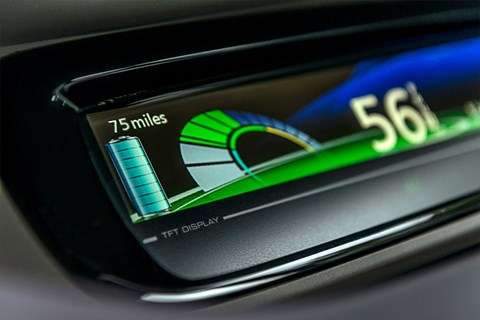 The Renault Zoe range meter