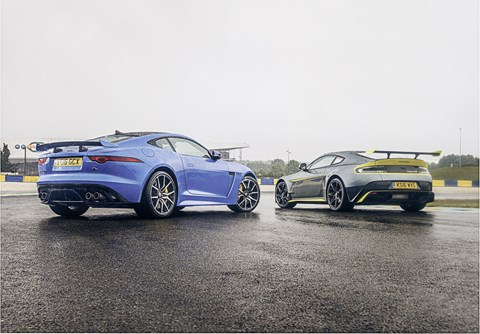 Blood brothers: Jaguar F-type SVR vs Aston Martin Vantage GT8