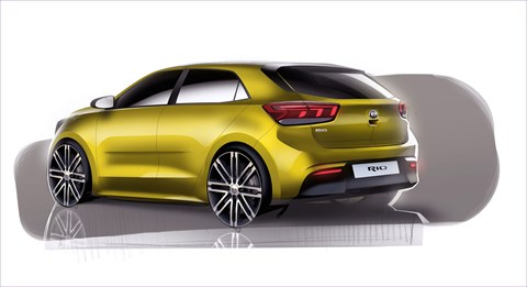 Kia Rio: the first design renderings