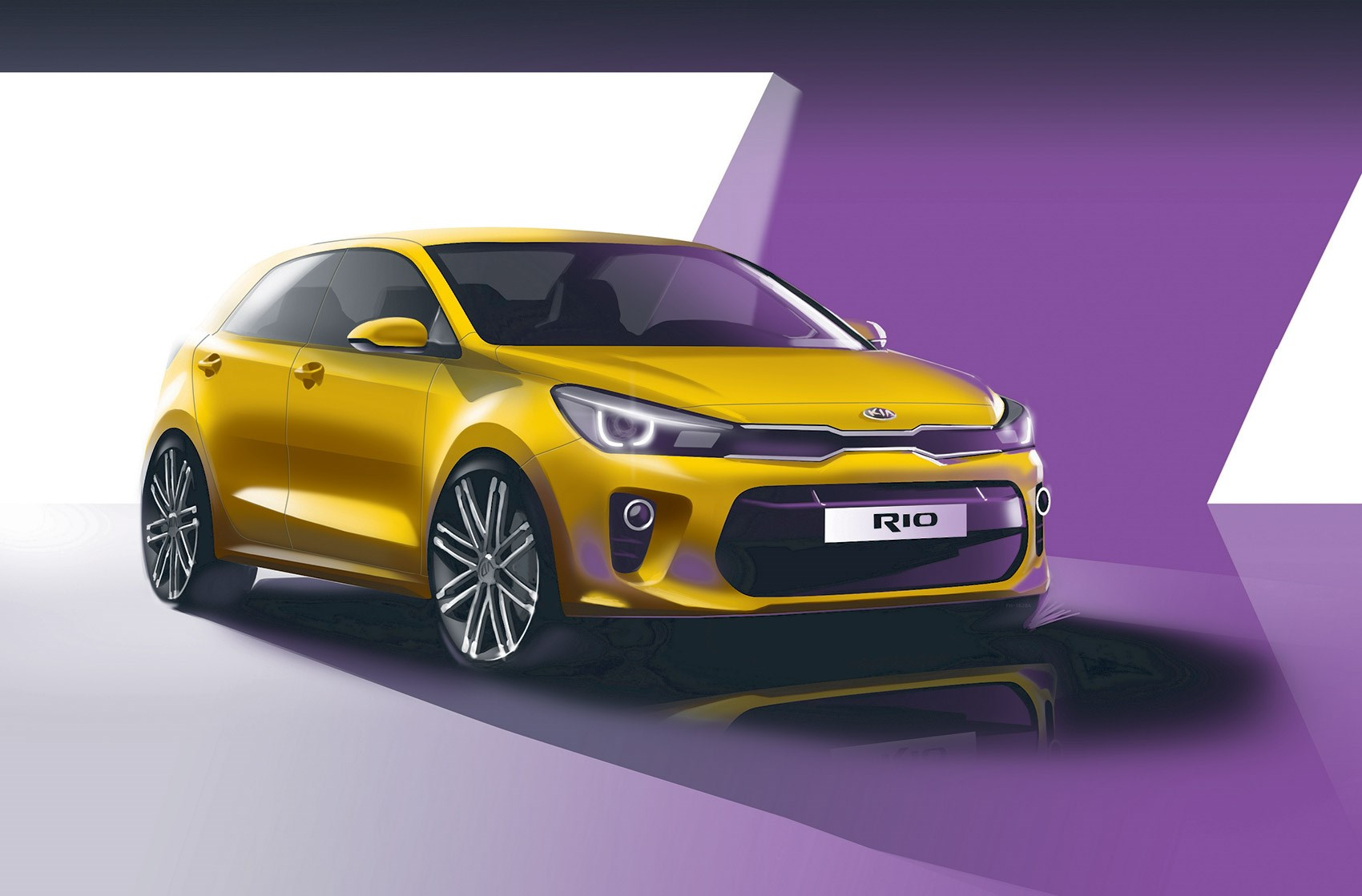 First Sketch Of New 2017 Kia Rio