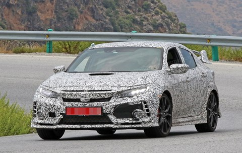 New 2017 Honda Civic Type R spy photos in Spain