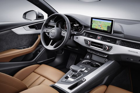 The cabin of the new 2017 Audi A5 Sportback