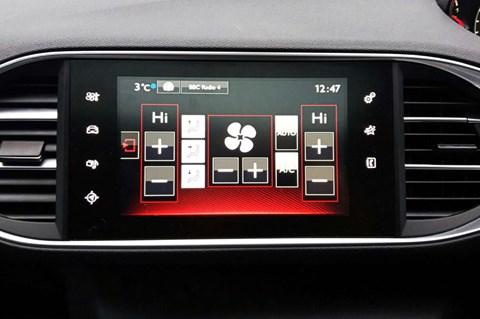 Peugeot 308 GTI heater controls