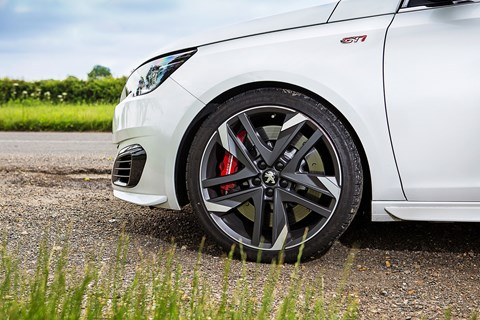 Peugeot 308 GTI's Alcon brakes and LSD