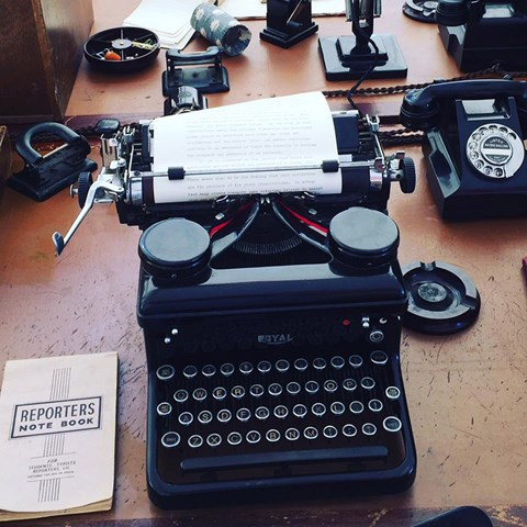 The Goodwood media centre: typewriters, anyone?