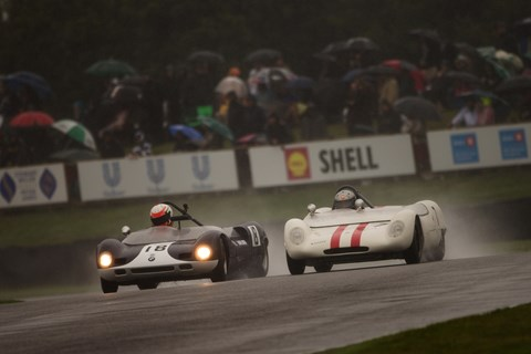 Racing in the wet: commonplace on Saturday