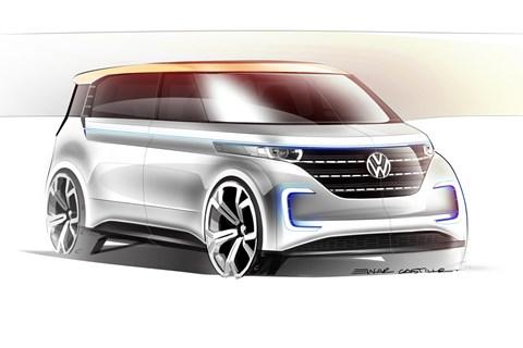 VW Budd-e concept sketch