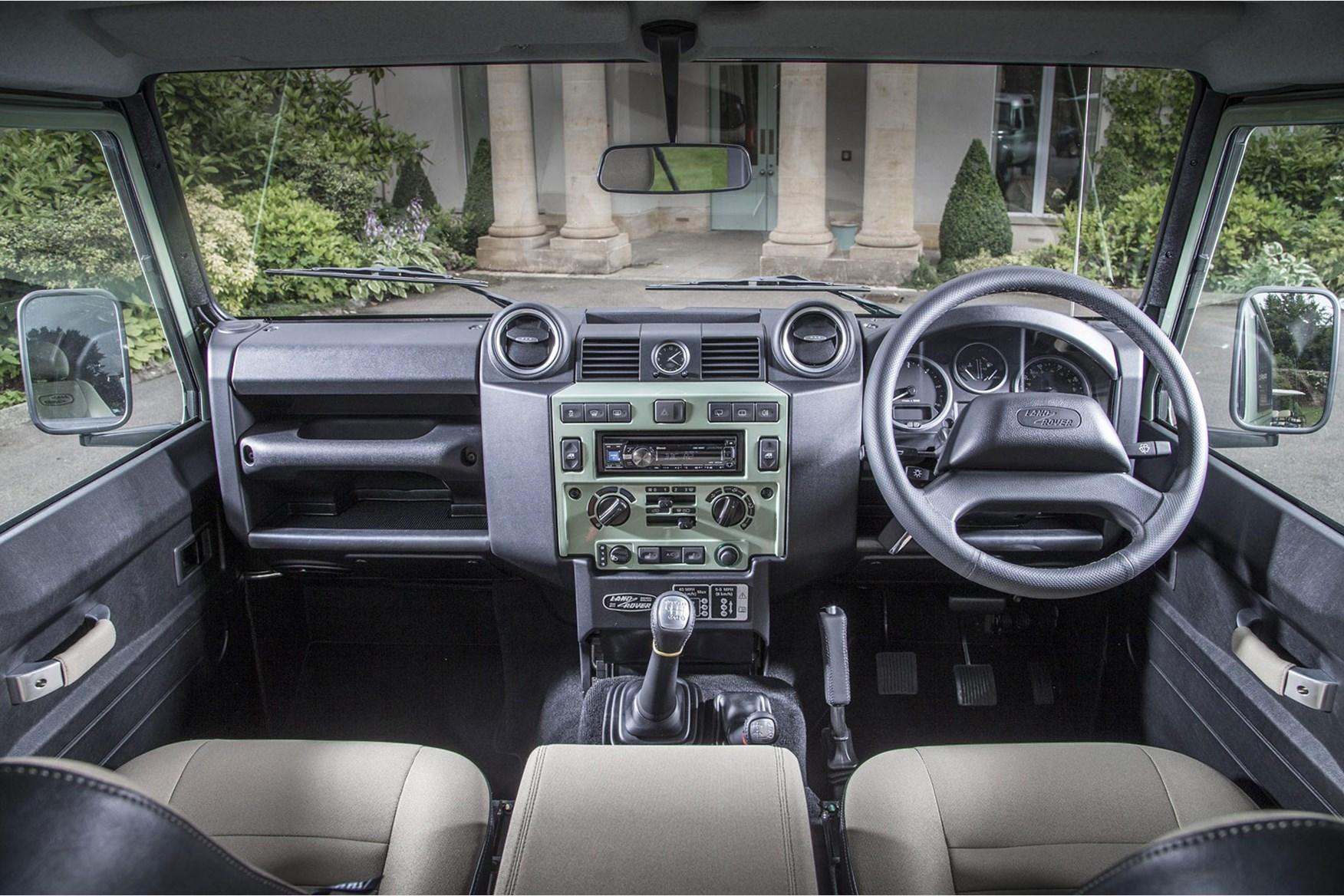 land rover defender interior. inside the land rover defender cabin ergonomics not included interior