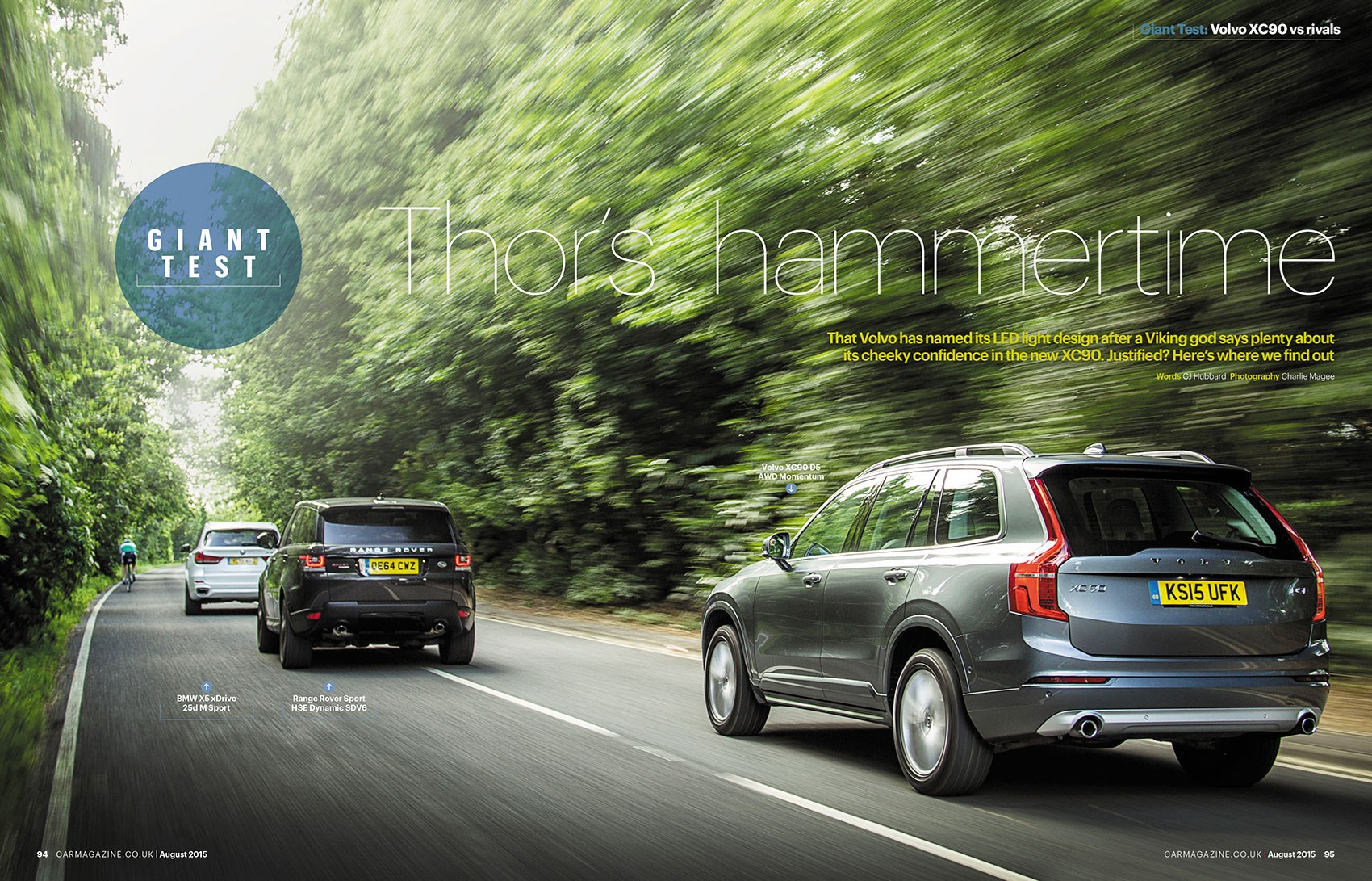 Volvo XC90 vs BMW X5 vs Range Rover Sport, by CAR magazine