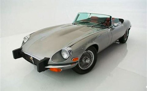 Jaguar E-Type with US 5mph impact bumpers