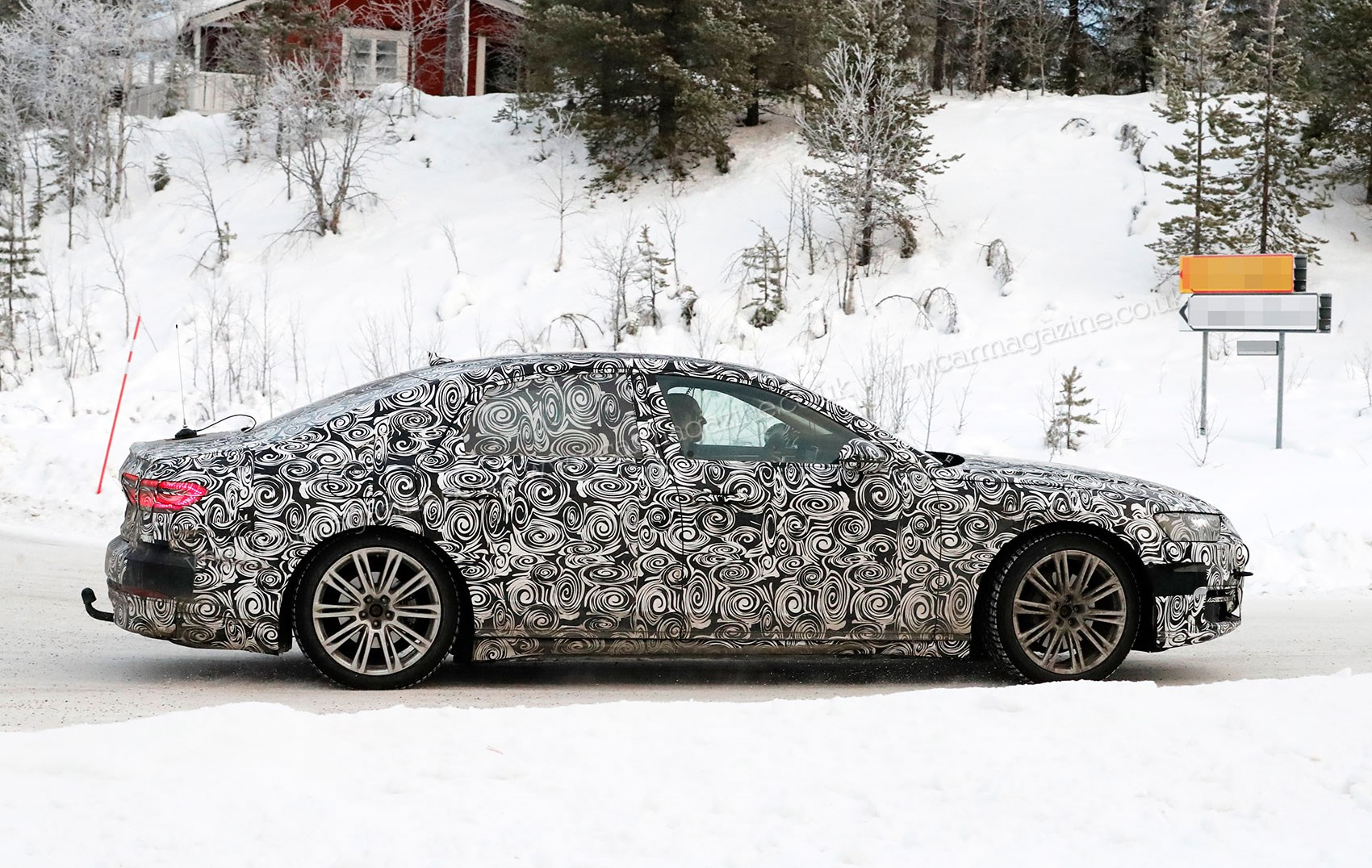 New Audi S Punchy Limo Spotted At The Limit On Test CAR Magazine - 2018 audi s8
