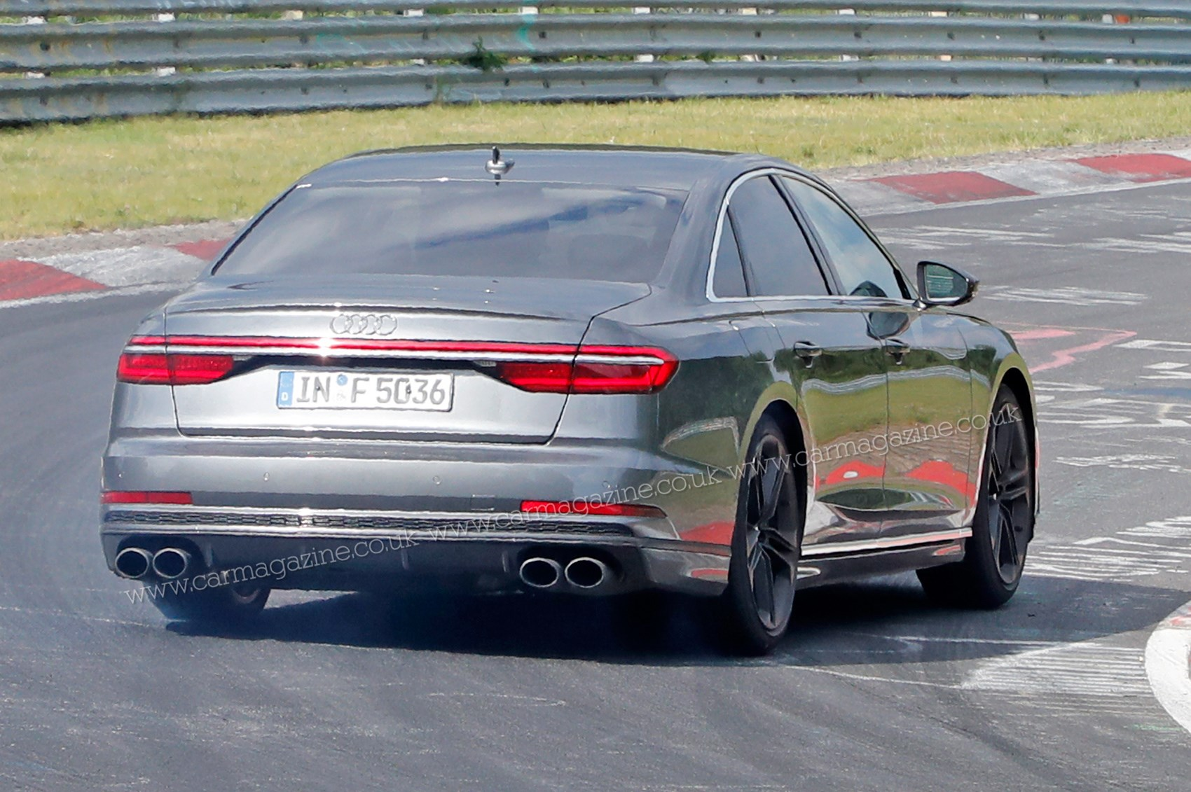 New Audi S8 Punchy Limo Spotted At The Limit On Test Car Magazine
