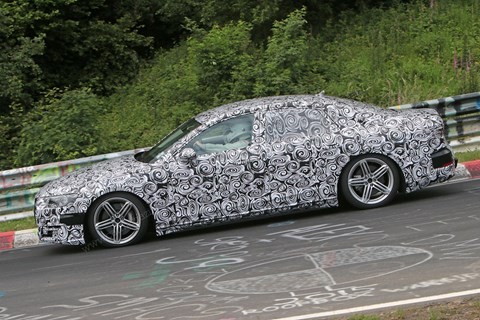 Caught at the Nurburgring: the new 2017 Audi A8