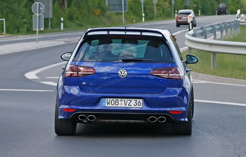 Our spies caught the hot VW Golf R400 on test near the Nurburgring