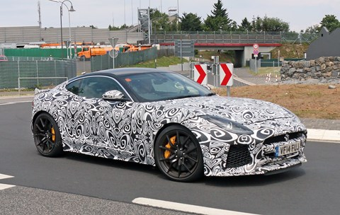 Jag F-type SVR will be 4wd, as confirmed by power bulge
