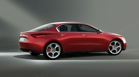CAR magazine's artist's impression of the Alfa Romeo Giulia