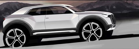 Official Audi rendering of new Q2