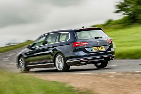 VW Passat Estate long-term rear cornering